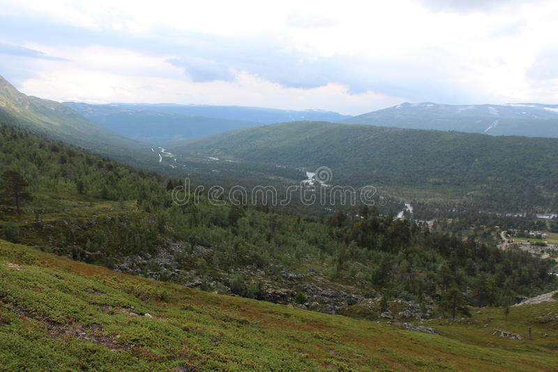 Krajobraz Wzgórza, góry i dolina, obrazy stock