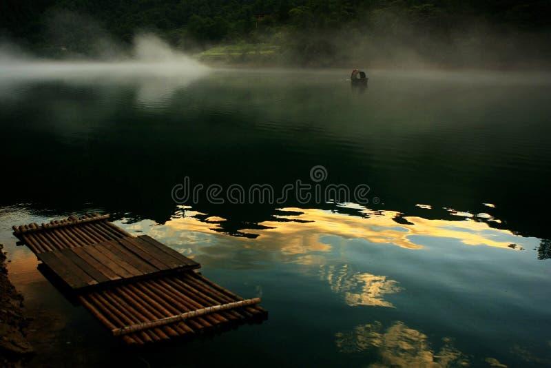 Krajobraz Xiaodong rzeka zdjęcie stock