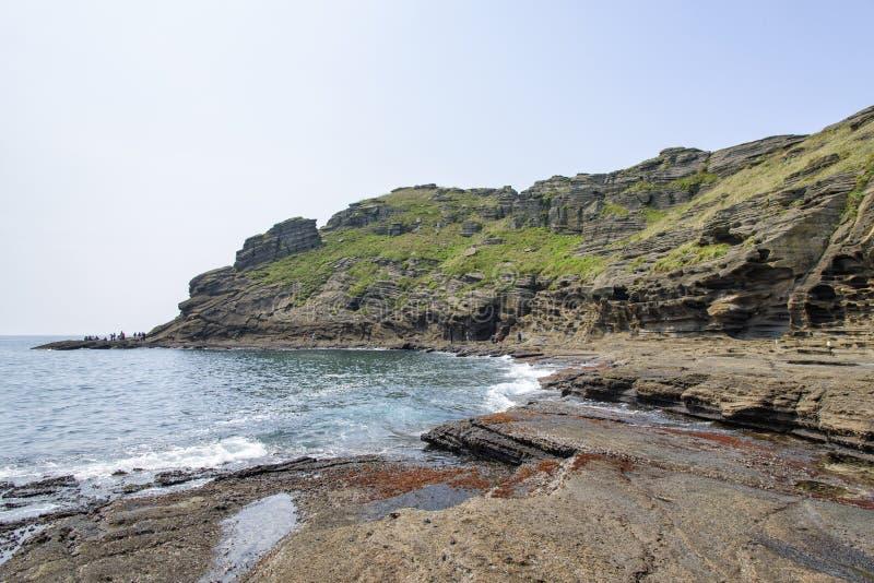 Krajobraz Yongmeori wybrzeże fotografia royalty free
