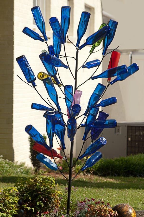 Krajobraz z Błękitnym butelki drzewem obraz royalty free