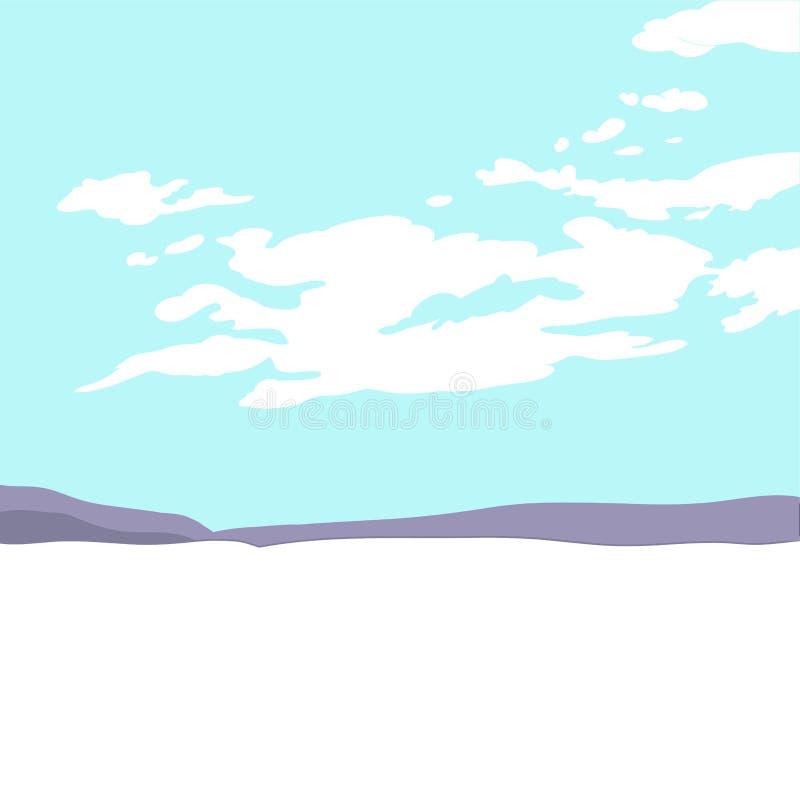 Krajobraz z chmurami ilustracja wektor