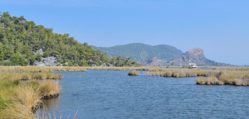 Krajobraz z halnym rzecznym Dalaman w Turcja obrazy royalty free
