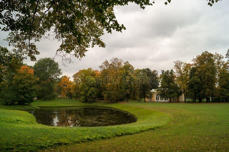 Krajobraz z małym jeziorem zdjęcia royalty free