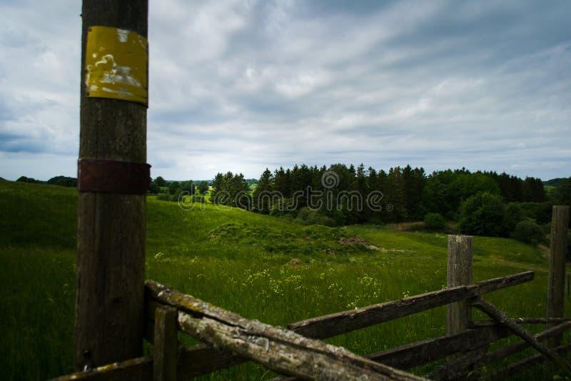 Download Krajobraz Z Ogrodzeniem W Przedpolu Obraz Stock - Obraz złożonej z dzień, drewno: 106905885