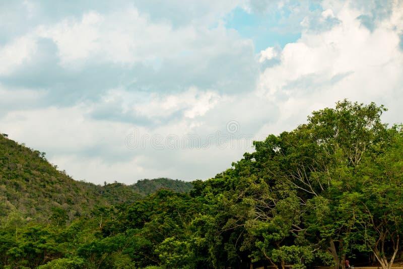Krajobraz z pasmem górskim zdjęcia royalty free