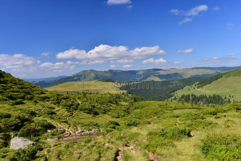 Krajobraz z Rodnei górami obrazy stock