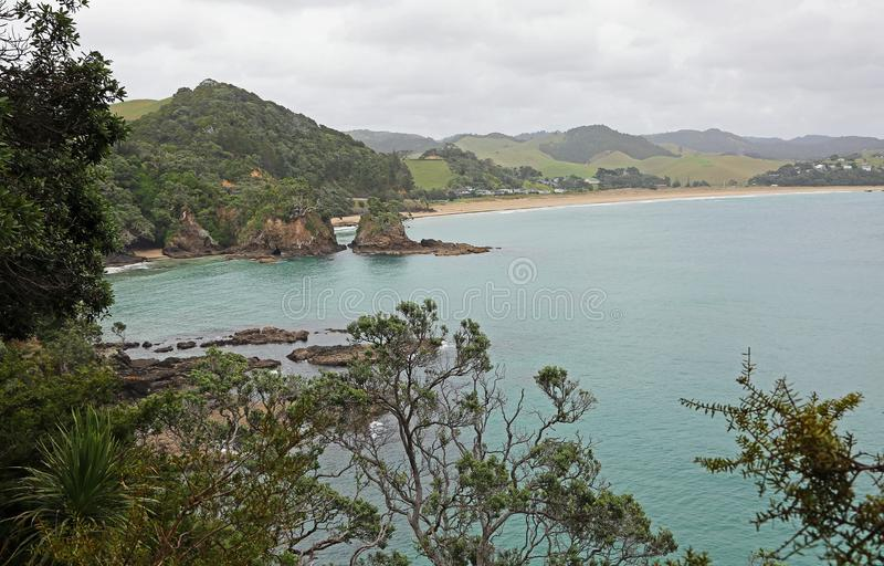 Krajobraz z Sandy zatoką fotografia royalty free