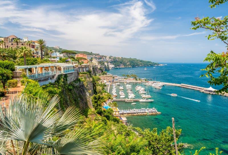 Krajobraz z Sorrento zdjęcia royalty free