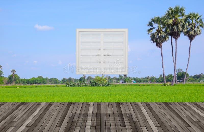 Krajobraz za okno ilustracji