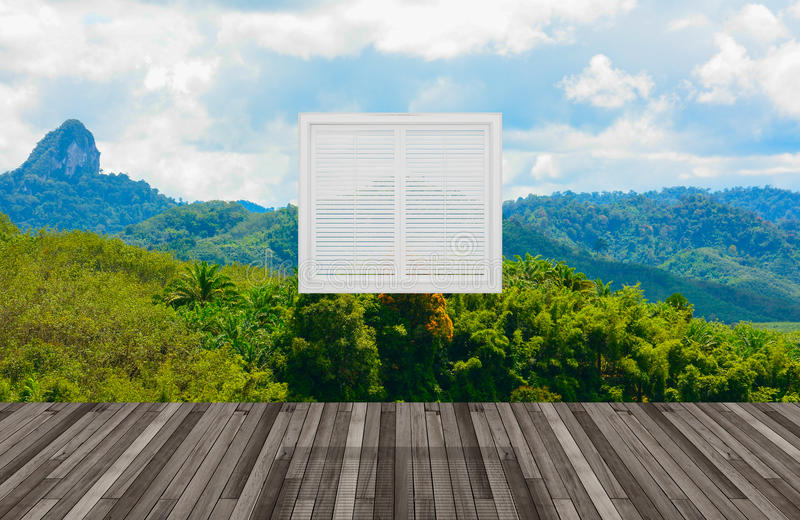 Krajobraz za okno royalty ilustracja