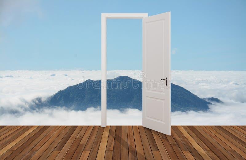 Krajobraz za otwarcia drzwi zdjęcie royalty free
