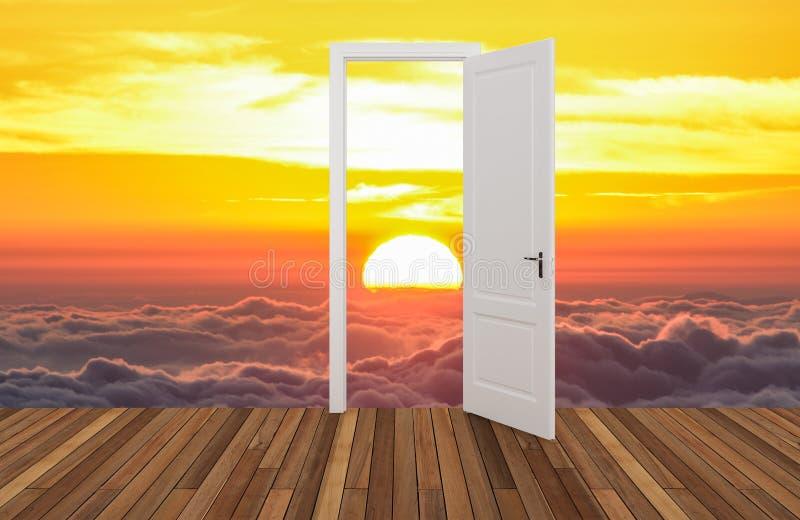 Krajobraz za otwarcia drzwi obrazy stock