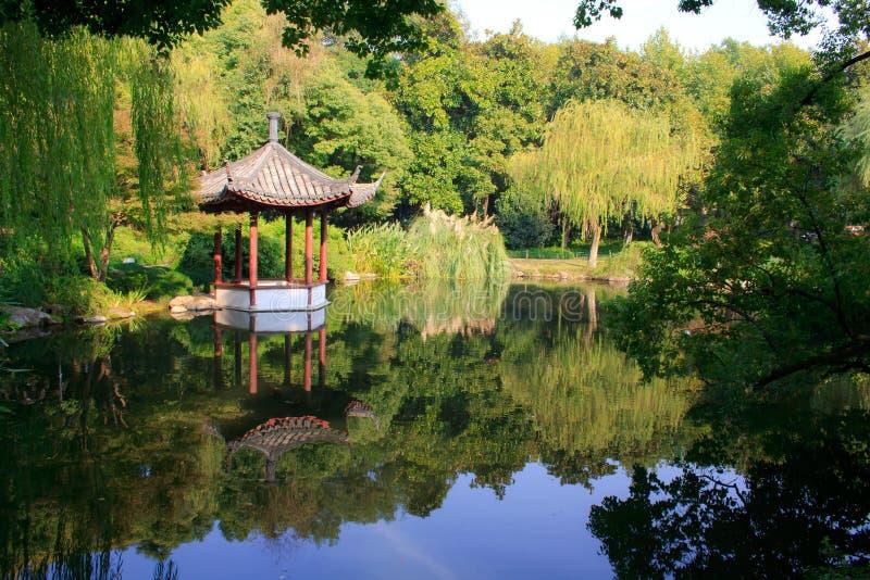 Krajobraz Zachodni jezioro. Hangzhou. Chiny. zdjęcie stock