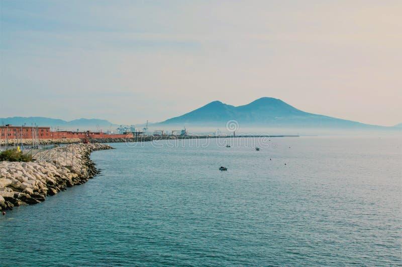 Krajobraz zatoka Naples zdjęcie stock