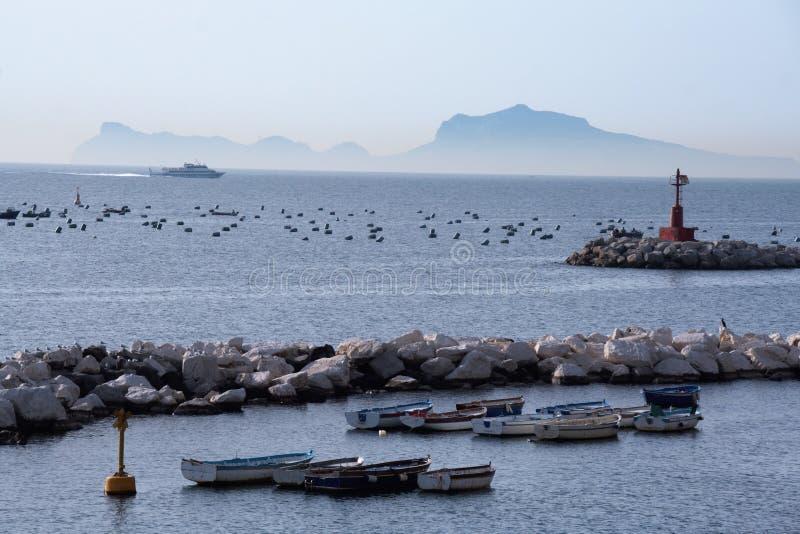 Krajobraz zatoka Naples obraz stock