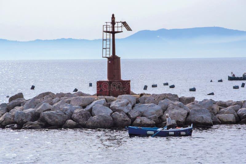 Krajobraz zatoka Naples zdjęcia stock