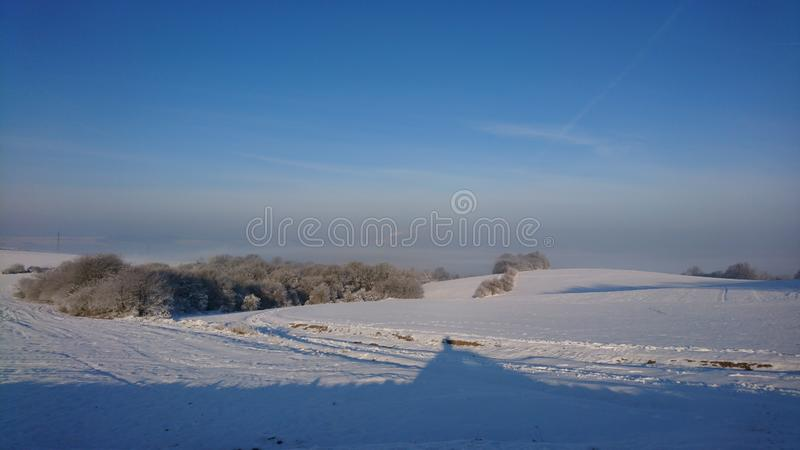 Krajobraz zimowy w pobliżu Otrokowic Czechy obraz royalty free