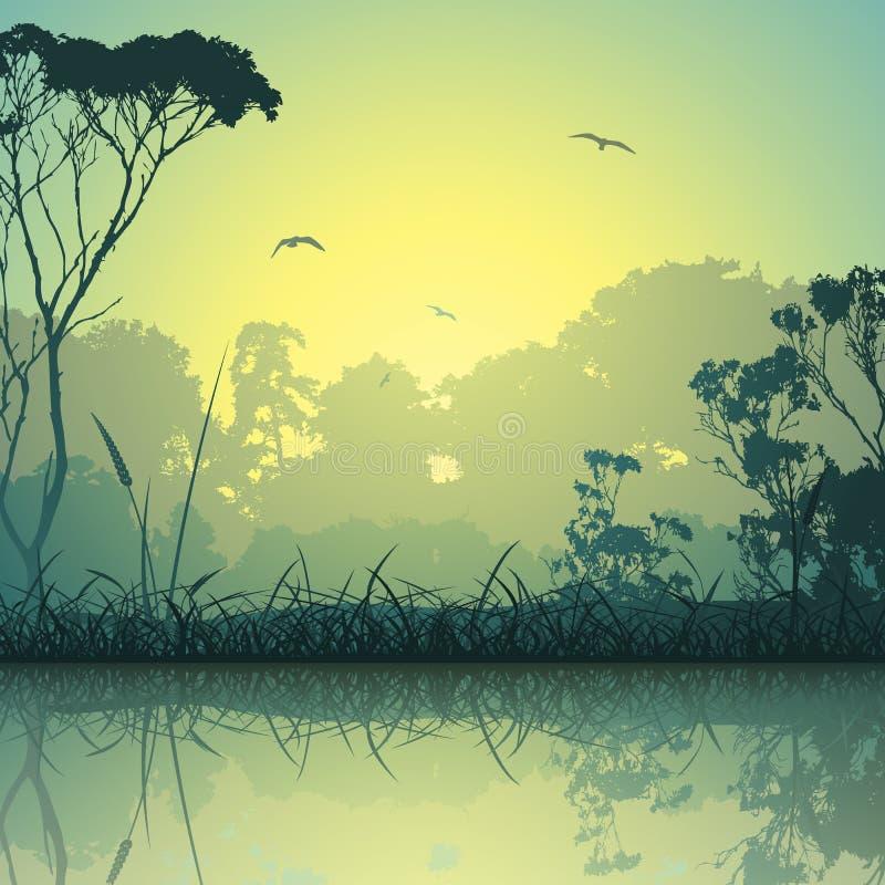 krajobrazowa łąka ilustracja wektor