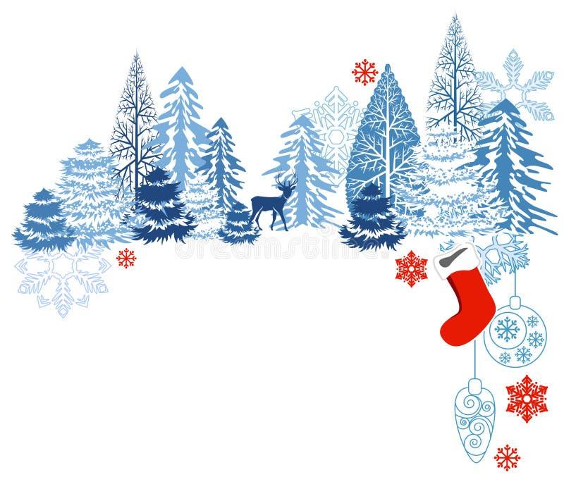 krajobrazowa błękit zima ilustracji