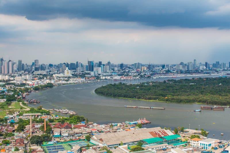 Krajobrazowa Chao Praya rzeka zdjęcie royalty free