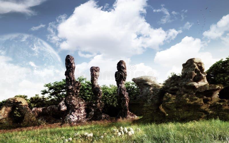 krajobrazowa fikci nauka ilustracja wektor