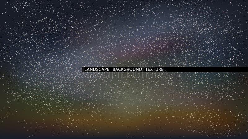Krajobrazowa gwiaździstej nocy wektoru ilustracja abstrakcjonistyczny tło zaświeca północnego wektor royalty ilustracja