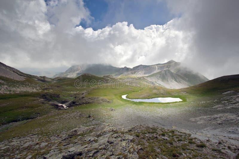 krajobrazowa jezioro góra fotografia stock