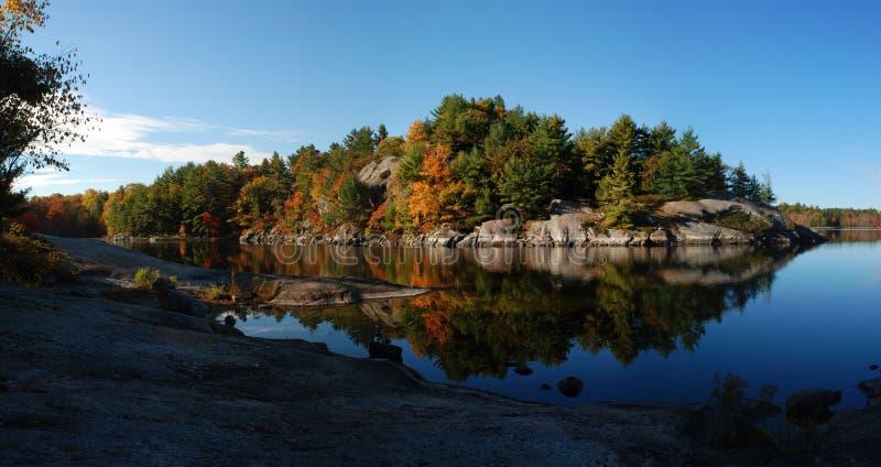 krajobrazowa jezioro panorama obraz royalty free