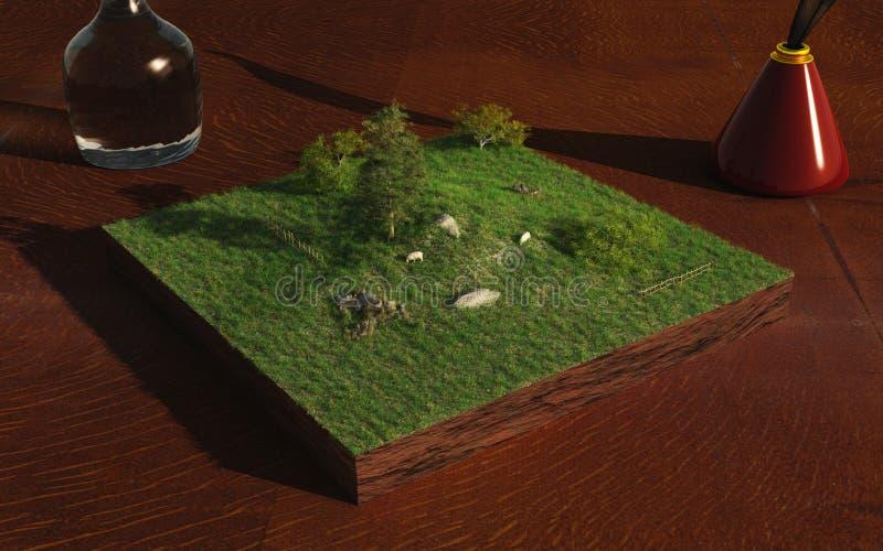 krajobrazowa miniatura royalty ilustracja