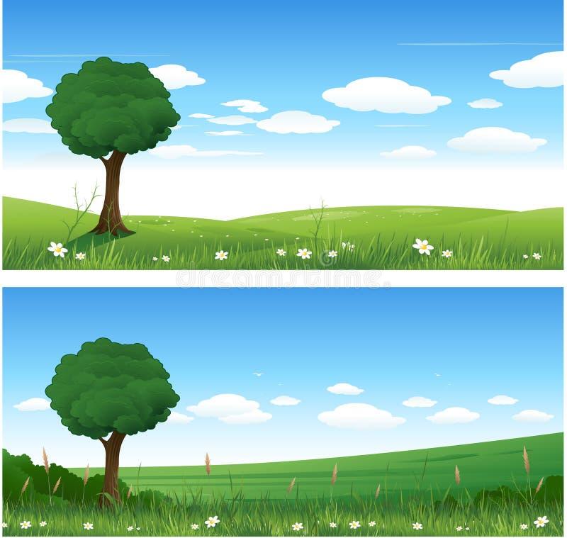 krajobrazowa natura royalty ilustracja