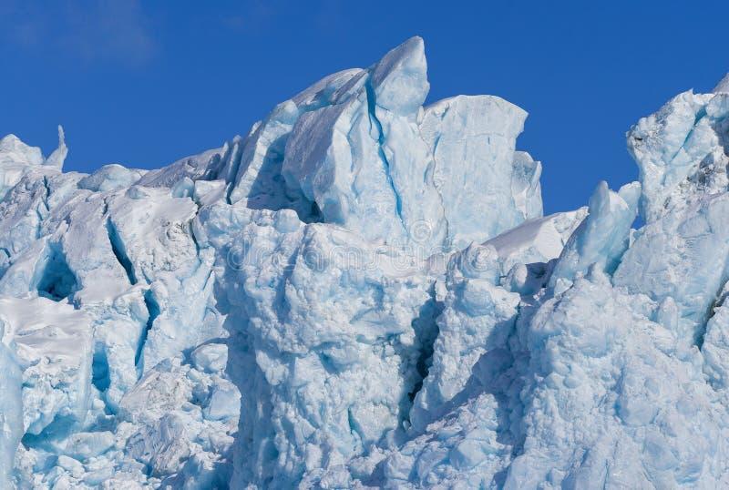 Krajobrazowa natura lodowiec góra Spitsbergen Longyearbyen Svalbard arktycznej zimy światła słonecznego biegunowy dzień fotografia stock