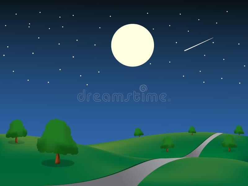 krajobrazowa noc ilustracji