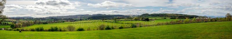 Krajobrazowa panorama blisko bitwy Bannockburn gościa centre obrazy royalty free