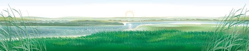 krajobrazowa rzeka royalty ilustracja