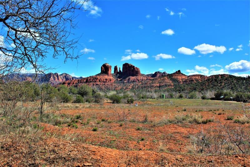 Krajobrazowa sceneria, Międzystanowi 17, Phoenix flagstenga, Arizona, Stany Zjednoczone zdjęcie stock