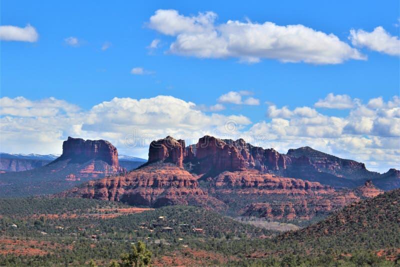 Krajobrazowa sceneria, Międzystanowi 17, Phoenix flagstenga, Arizona, Stany Zjednoczone fotografia stock
