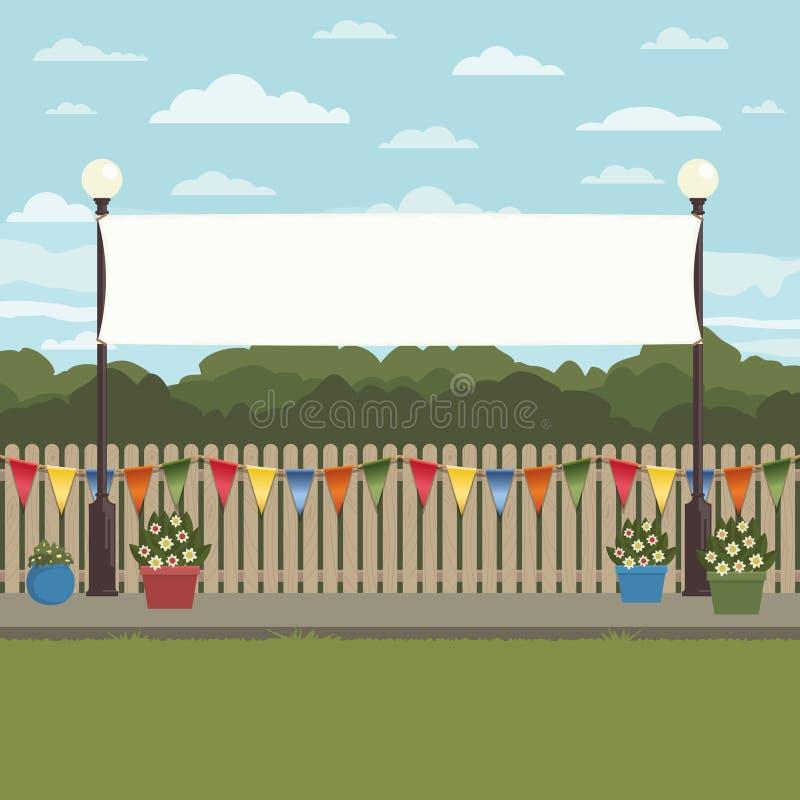 Krajobrazowa sztandar dekoracja obrazy stock