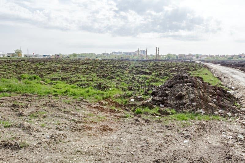Krajobrazowa transformata w obszar miejskiego fotografia stock
