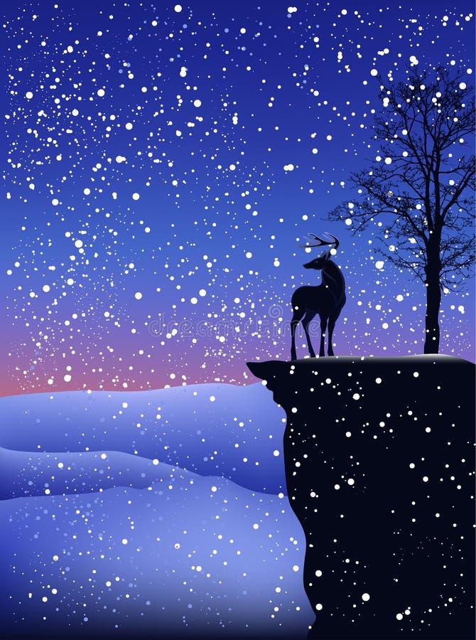krajobrazowa wektorowa zima ilustracja wektor