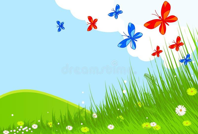 krajobrazowa wiosna ilustracji