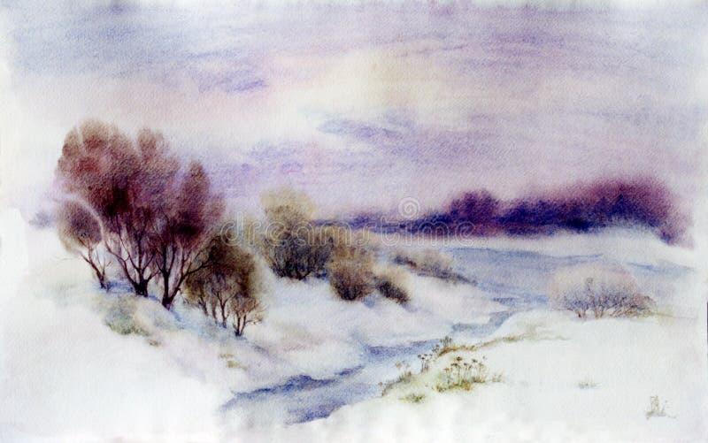 krajobrazowa zima ilustracji