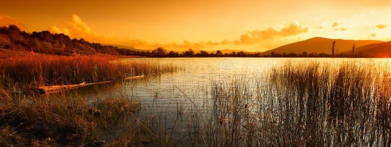 krajobrazowe jezioro góry fotografia stock