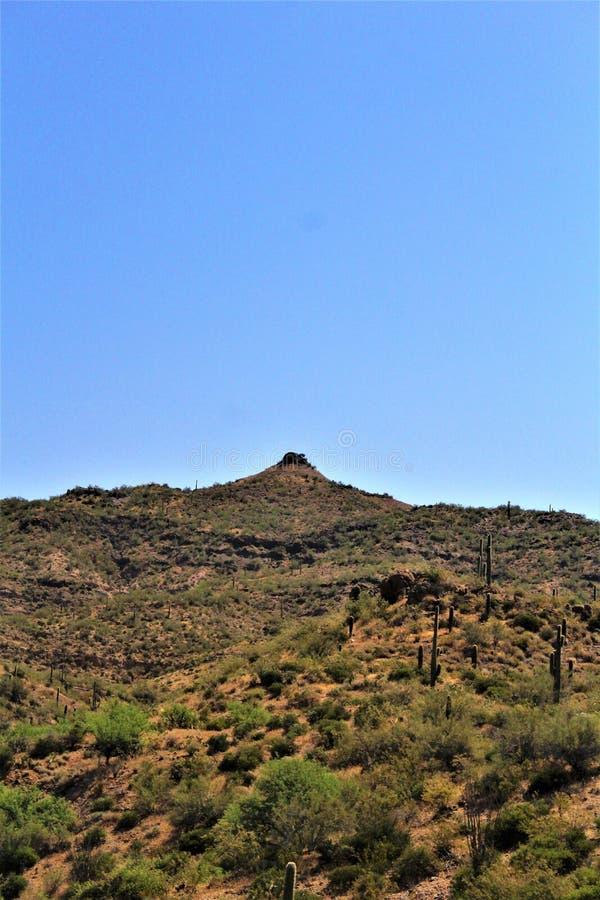 Krajobrazowe sceneria mesy Sedona, Maricopa okręg administracyjny, Arizona, Stany Zjednoczone obrazy stock