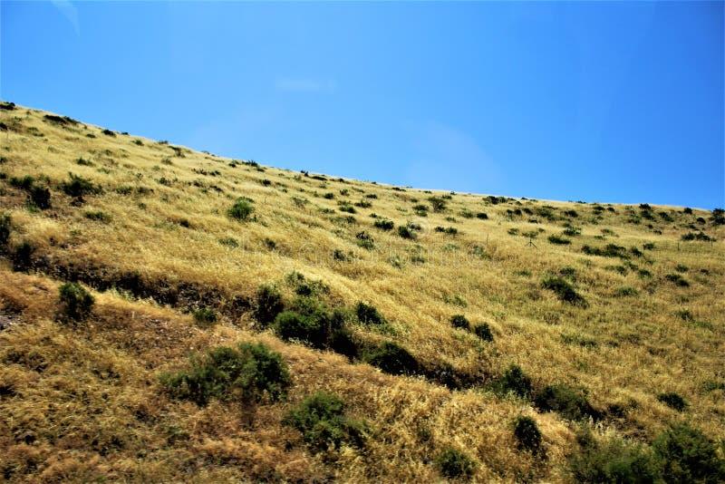 Krajobrazowe sceneria mesy Sedona, Maricopa okręg administracyjny, Arizona, Stany Zjednoczone zdjęcie stock