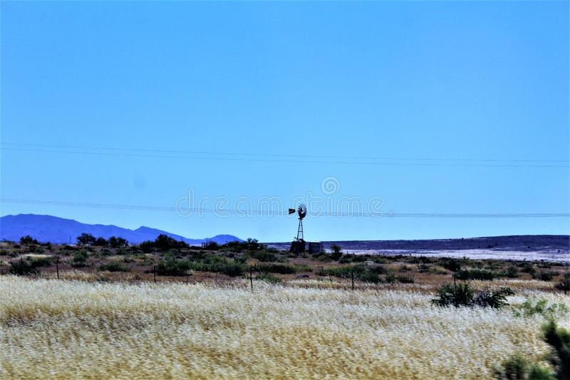 Krajobrazowe sceneria mesy Sedona, Maricopa okręg administracyjny, Arizona, Stany Zjednoczone zdjęcie royalty free