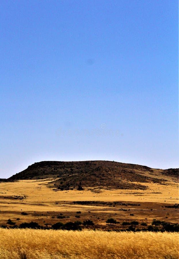 Krajobrazowe sceneria mesy Sedona, Maricopa okręg administracyjny, Arizona, Stany Zjednoczone obraz royalty free