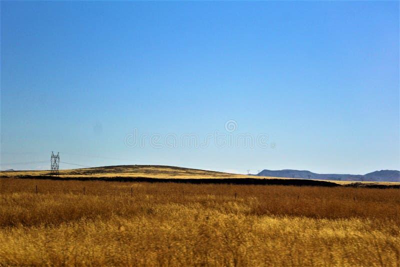 Krajobrazowe sceneria mesy Sedona, Maricopa okręg administracyjny, Arizona, Stany Zjednoczone fotografia stock
