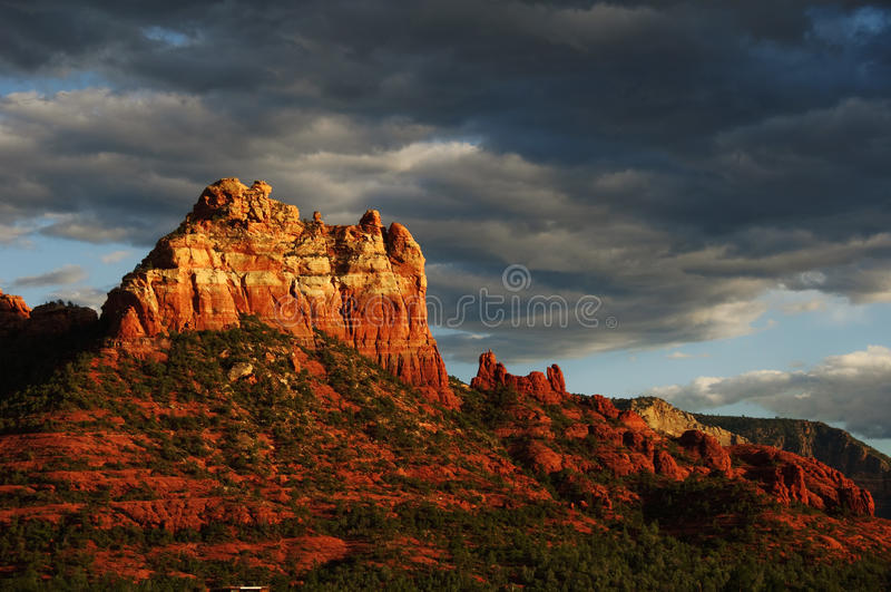 krajobrazowego czerwieni skały sedona zmierzch obraz stock