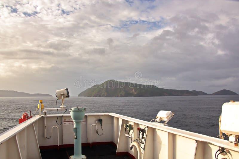 Krajobrazowi widoki droga bunkering naczynia i linia brzegowa Trinidad i Tobago wyspy obrazy royalty free