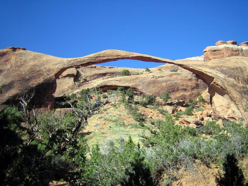 Krajobrazowy łuk w łuku park narodowy, Utah, usa obrazy stock
